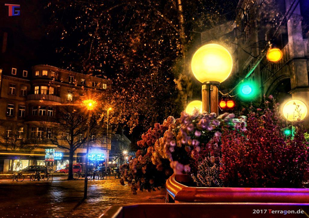 Hannover City bei Nacht, November 2017