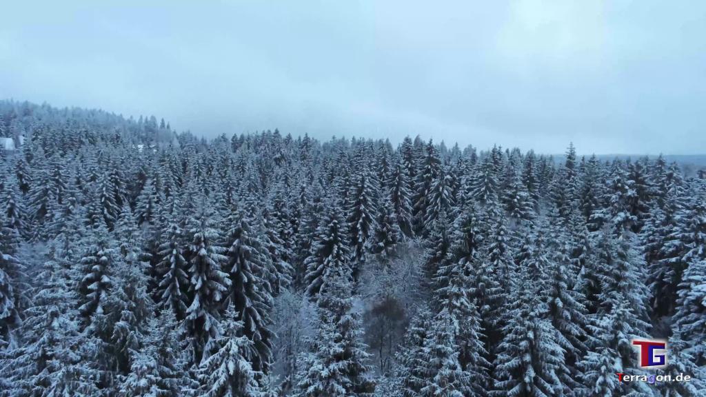 Jahrhundertwinter: Dramatisch schöne Landschaft am Torfhaus im Harz