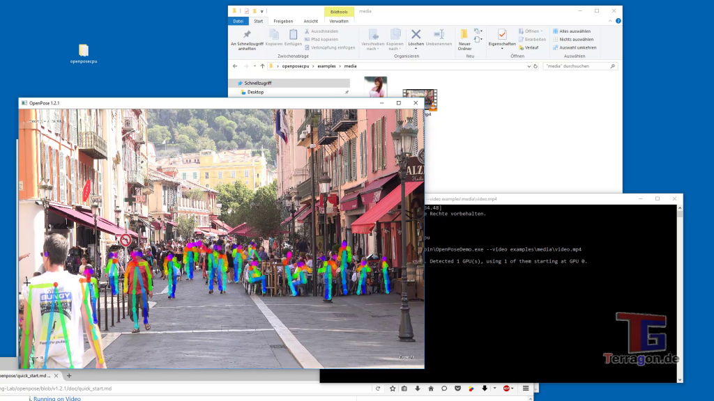 Tutorial: Use OpenPose in Windows 10 (for Videos, Images and Livecam)